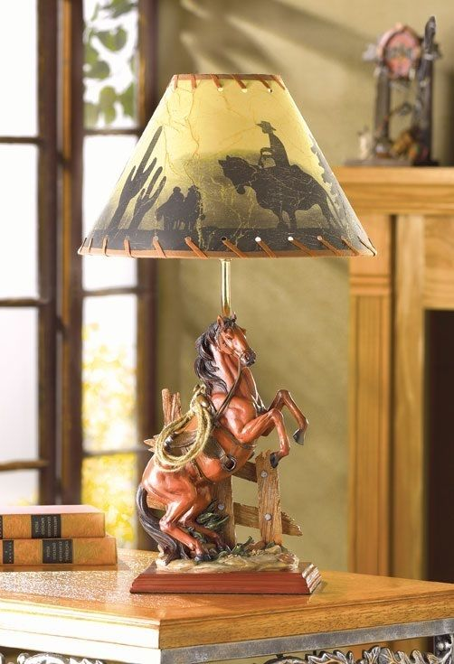 Desk Lamp Light Country Cabin Ranch