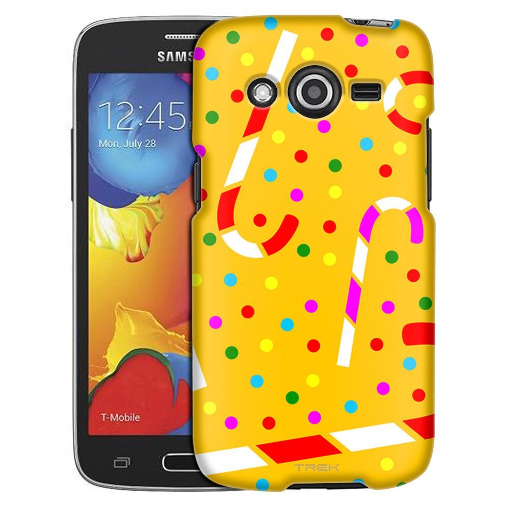 Samsung Galaxy Avant Candy Canes on Yellow Pattern Slim Case