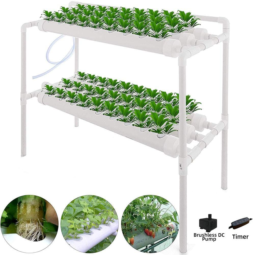 Hydroponic Grow Kit Soilless Plant Growing Systems Vegetable Planting 54site 6pipe 2 Layers In 2020 Hydroponic Grow Kits Planting Vegetables Hydroponics
