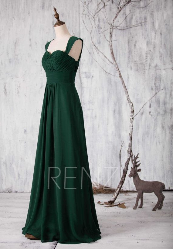 2017 Dark Green Bridesmaid Dress Long Sweetheart By Renzrags