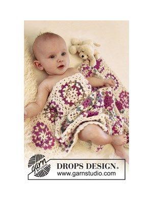 Garnpakke til hæklet babytæppe