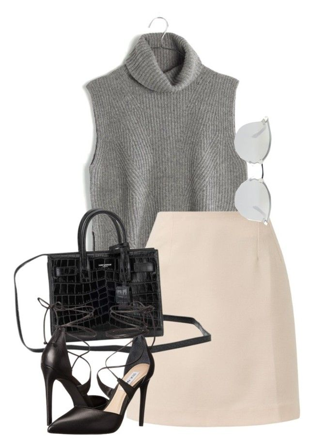 """""""Sin título #1453"""" by camila-echi ❤ liked on Polyvore featuring Madewell, Yves Saint Laurent, Fendi, Steve Madden, women's clothing, women's fashion, women, female, woman and misses"""