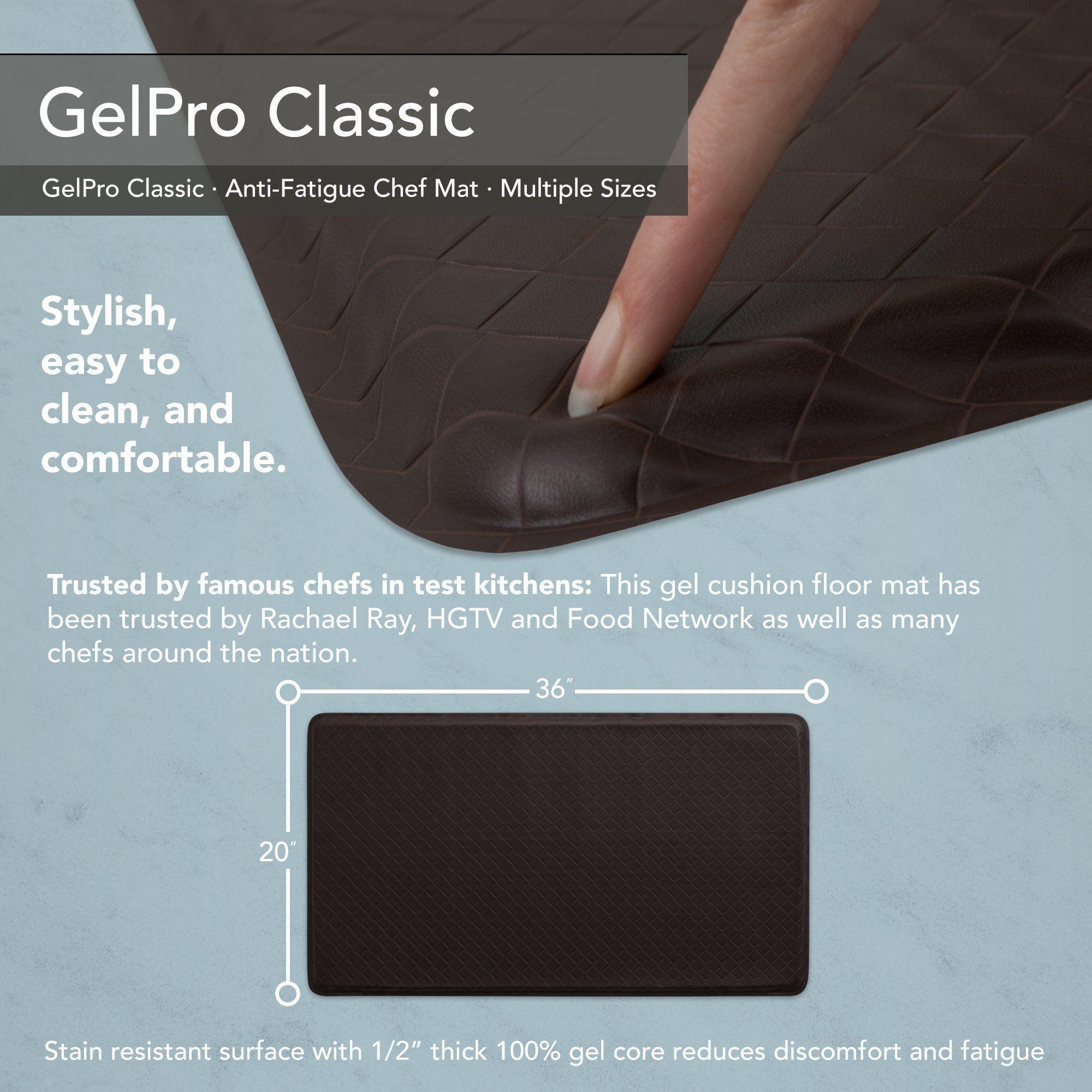 Gelpro Classic Antifatigue Kitchen Comfort Chef Floor Mat
