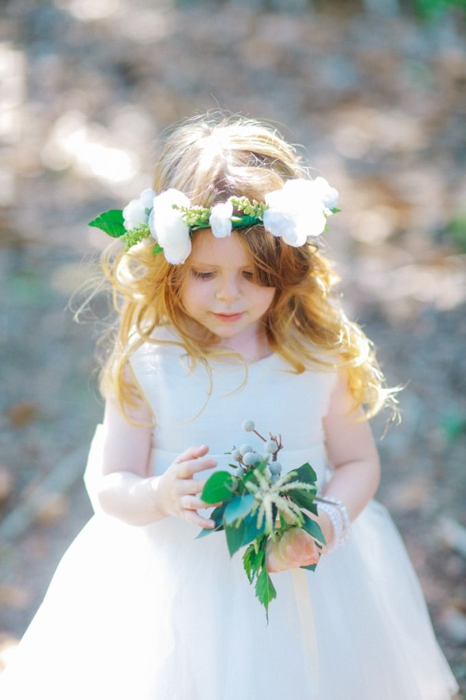 Glamour flower girl