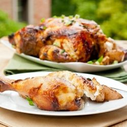 Oven Roasted Chicken - Ever find roasted chicken to be dry? Try my secret marinade and your chicken will come out tender and juice every time