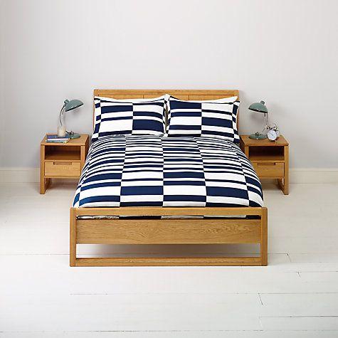 Buy John Lewis Broken Stripes Duvet Cover And Pillowcase Set Online At Johnlewis Com Striped Duvet Covers Duvet Covers Duvet Cover Sets