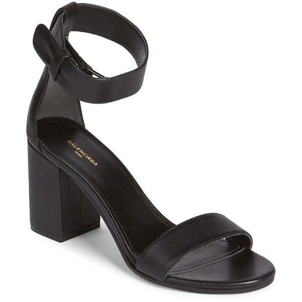 Balenciaga Leather Ankle Strap Sandals lmiBA