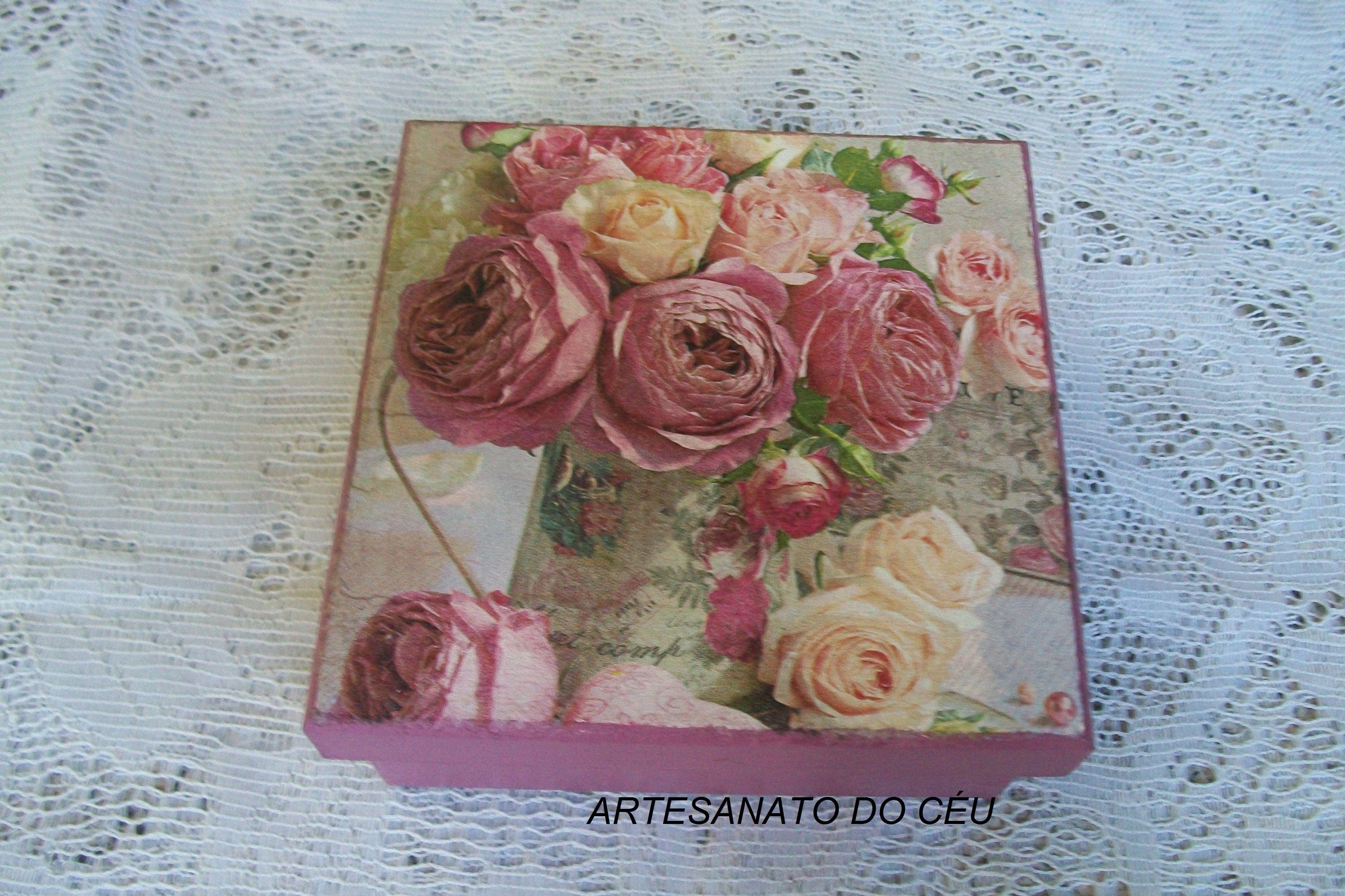 Caixa Rosas Cyclame - R$ 15,00 Cod. PCX 178