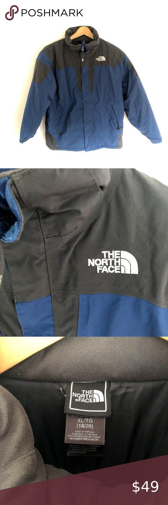 North Face Hyvent Ski Jacket Boys Xl Winter Girls North Face Jacket North Face Fleece Jacket Girls Puffer Jacket [ 1740 x 580 Pixel ]