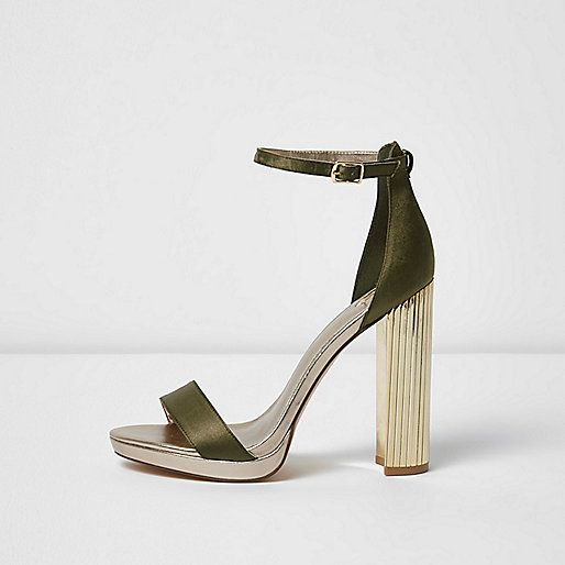 Khaki barely there platform sandals - sandals - shoes / boots - women