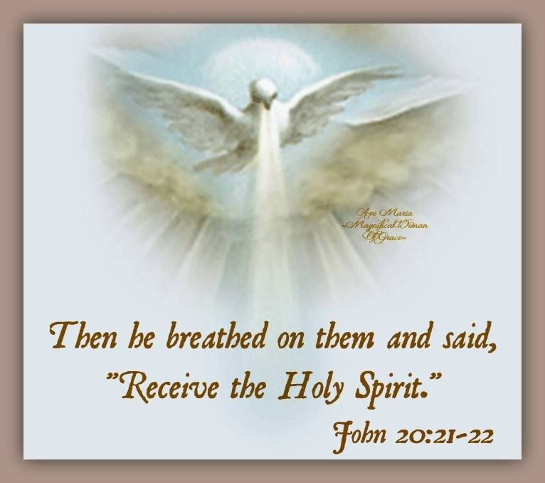 Receive the Holy Spirit  // Then he breathed on them and
