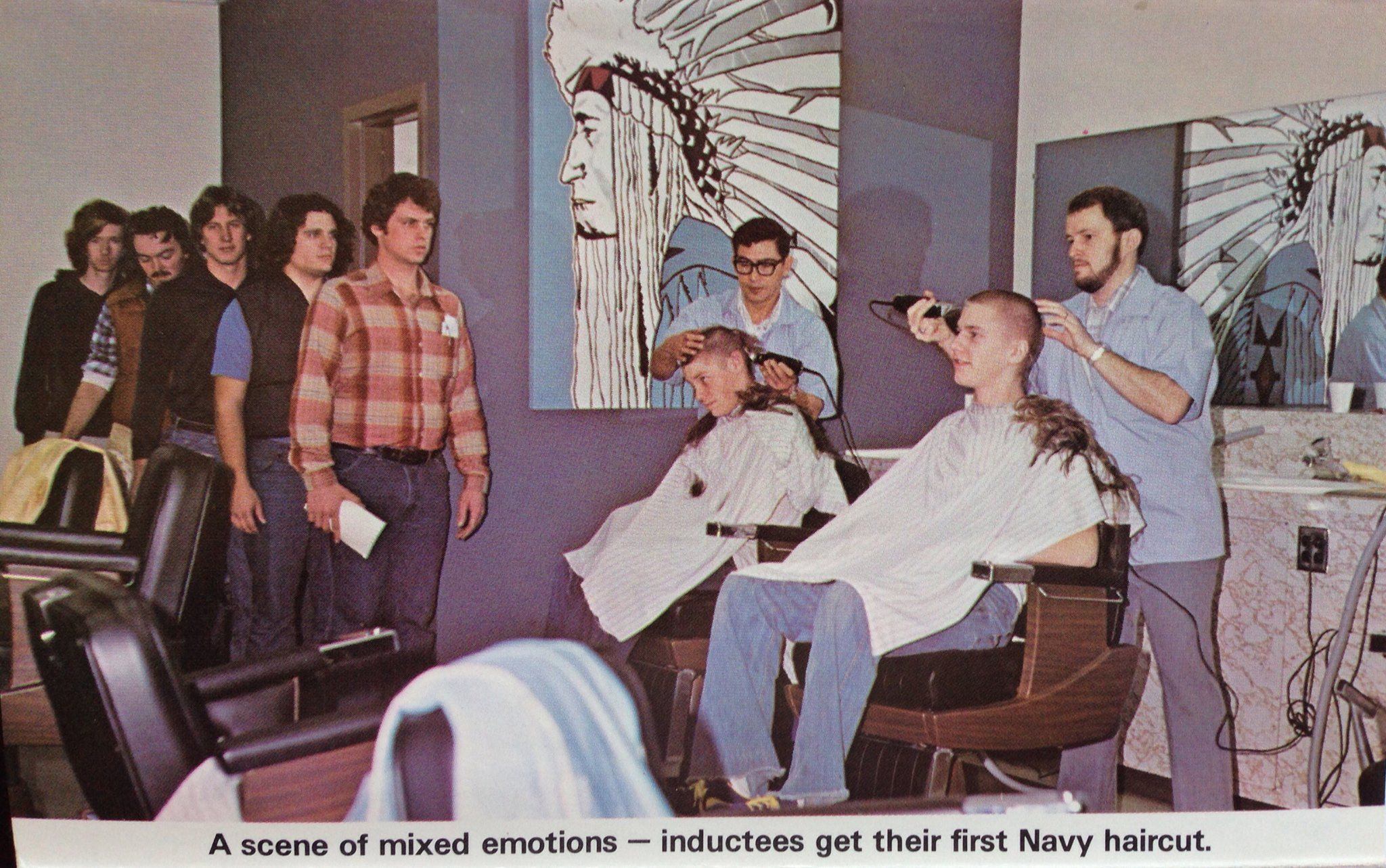 Rtc San Diego The First Haircut And It Wasn T A Free One Either Recruits Paid For The Haircut Out Of A Chit Book That T Navy Day Navy Training Us Navy Ships