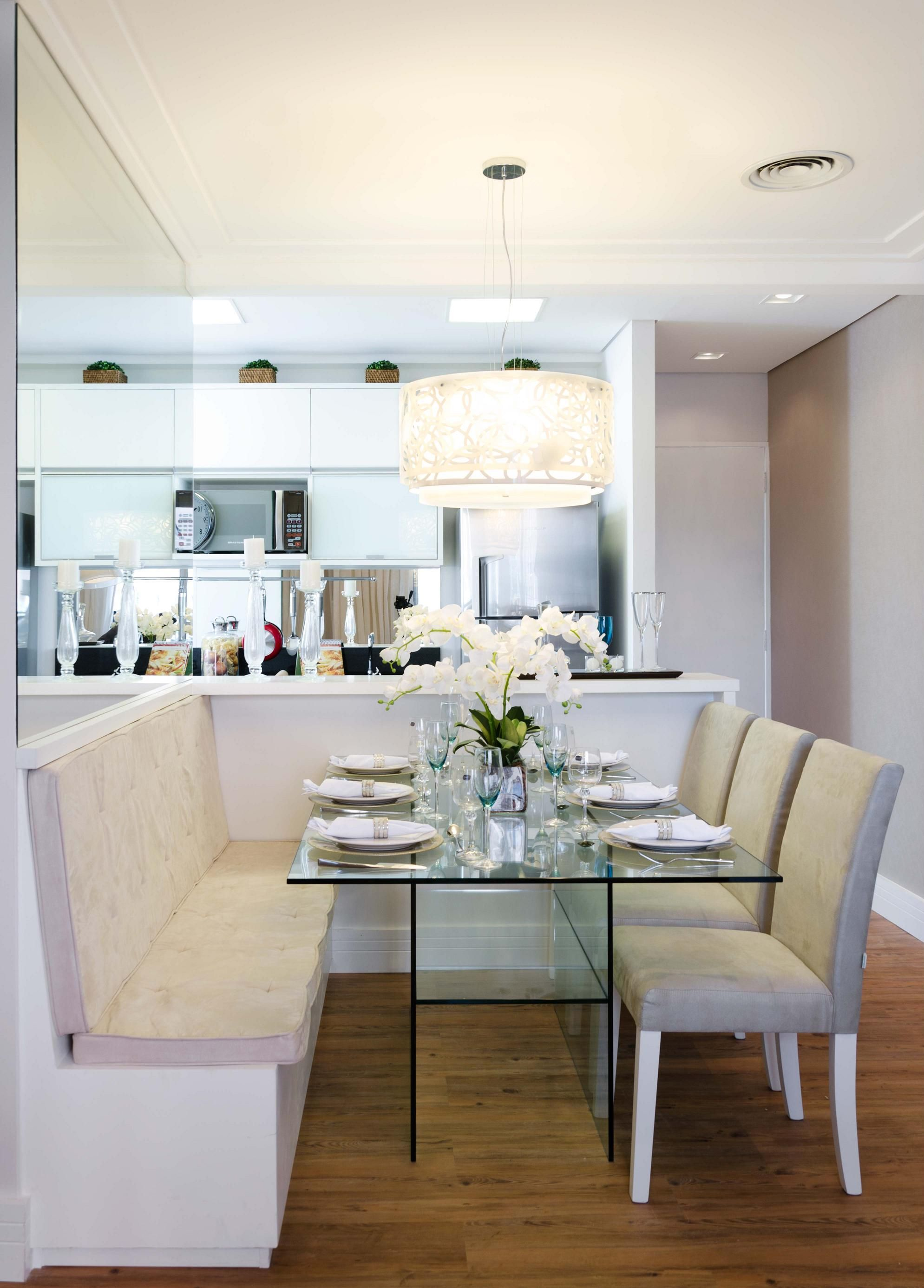 Canto Alem O Mesa De Vidro E Espelhos Casa Pinterest Mesa De  -> Sala De Jantar Estilo Alemao