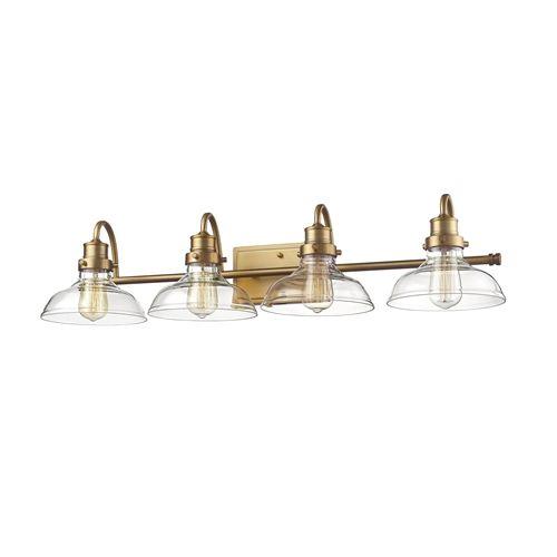 Heirloom Bronze//Clear 2314-HBZ Millennium Lighting 4 Light Vanity