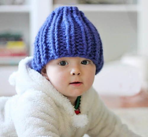 The Spring Day Baby Hat is the perfect pastel color for those in-between days when the temperature is starting to rise, but you still need to cover your little one's head. This free knitting pattern for babies also makes a great gift.