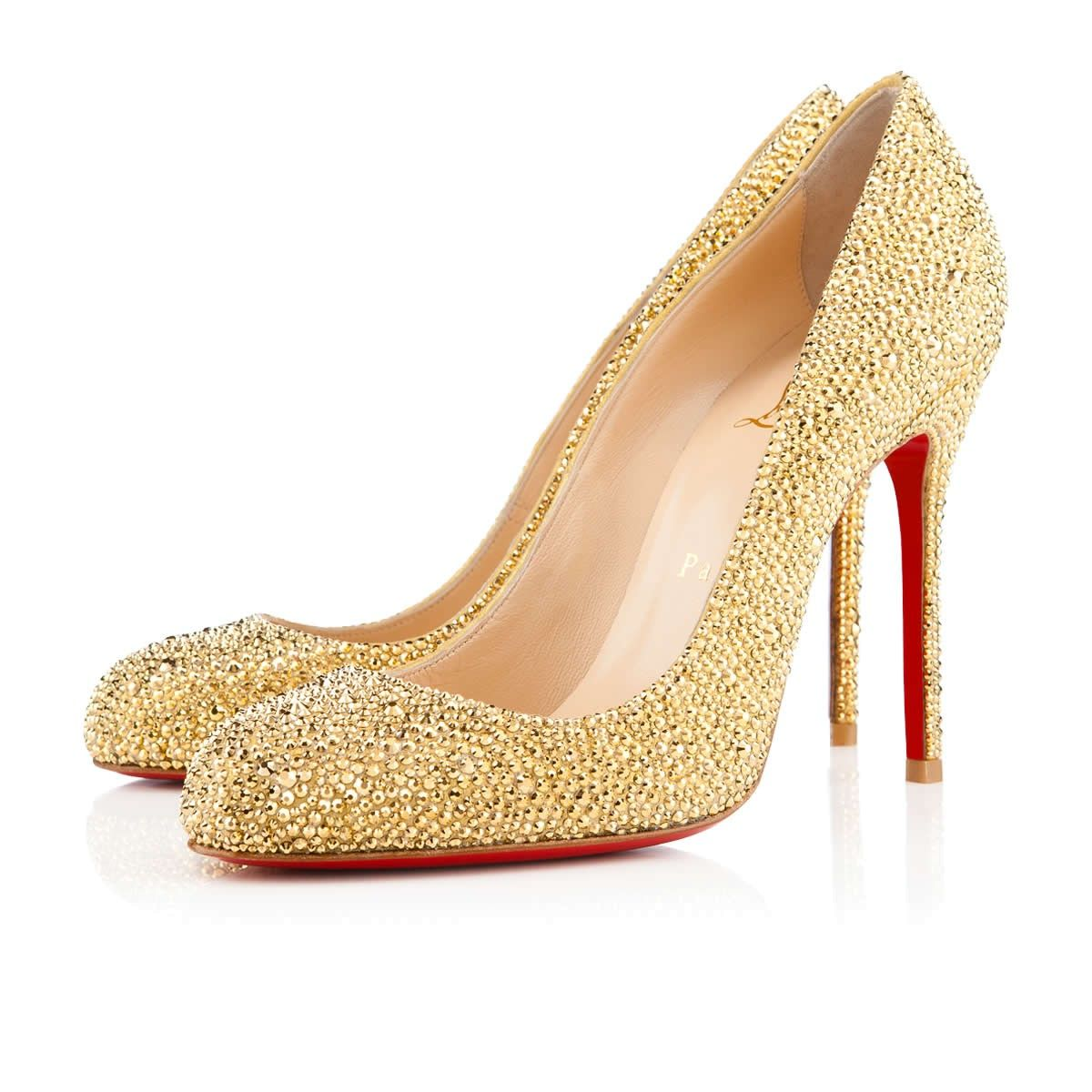 Christian Louboutin Very Prive patent red peeptoe pumps