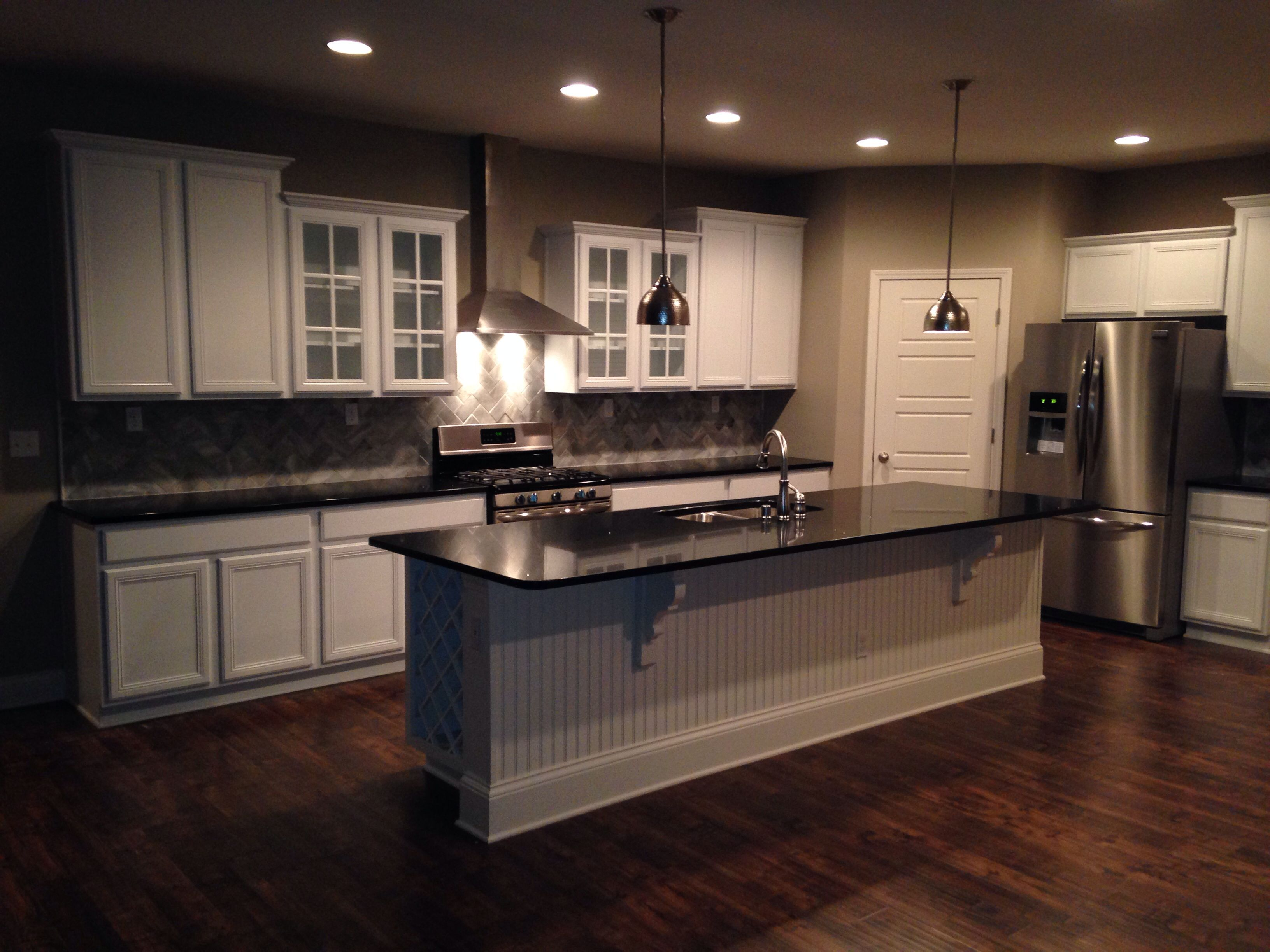 Albany Kitchen Built By Ball Homes. I Love The White Cabinets, Black Quartz  Counters