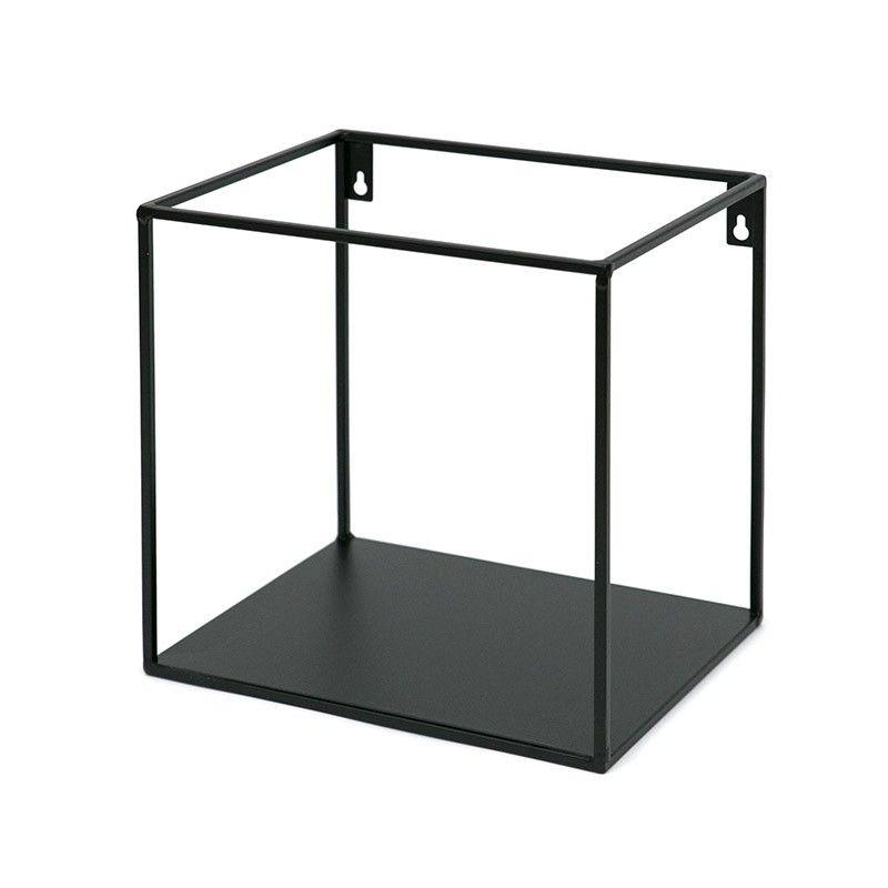 Półka Czarna Metalowa 25x25cm ścienna łazienkowa Strzeszyn