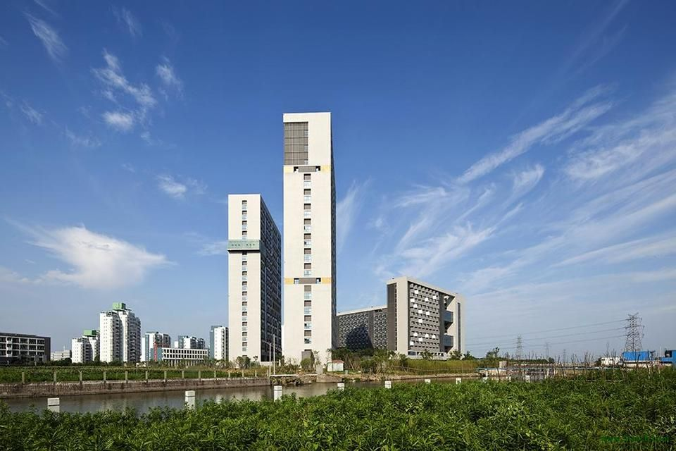 DC ALLIANCE designed the 'Yinzhou Talent Apartments' in Ningbo, China. http://en.51arch.com/2013/08/a2001-yinzhou-talent-apartments/
