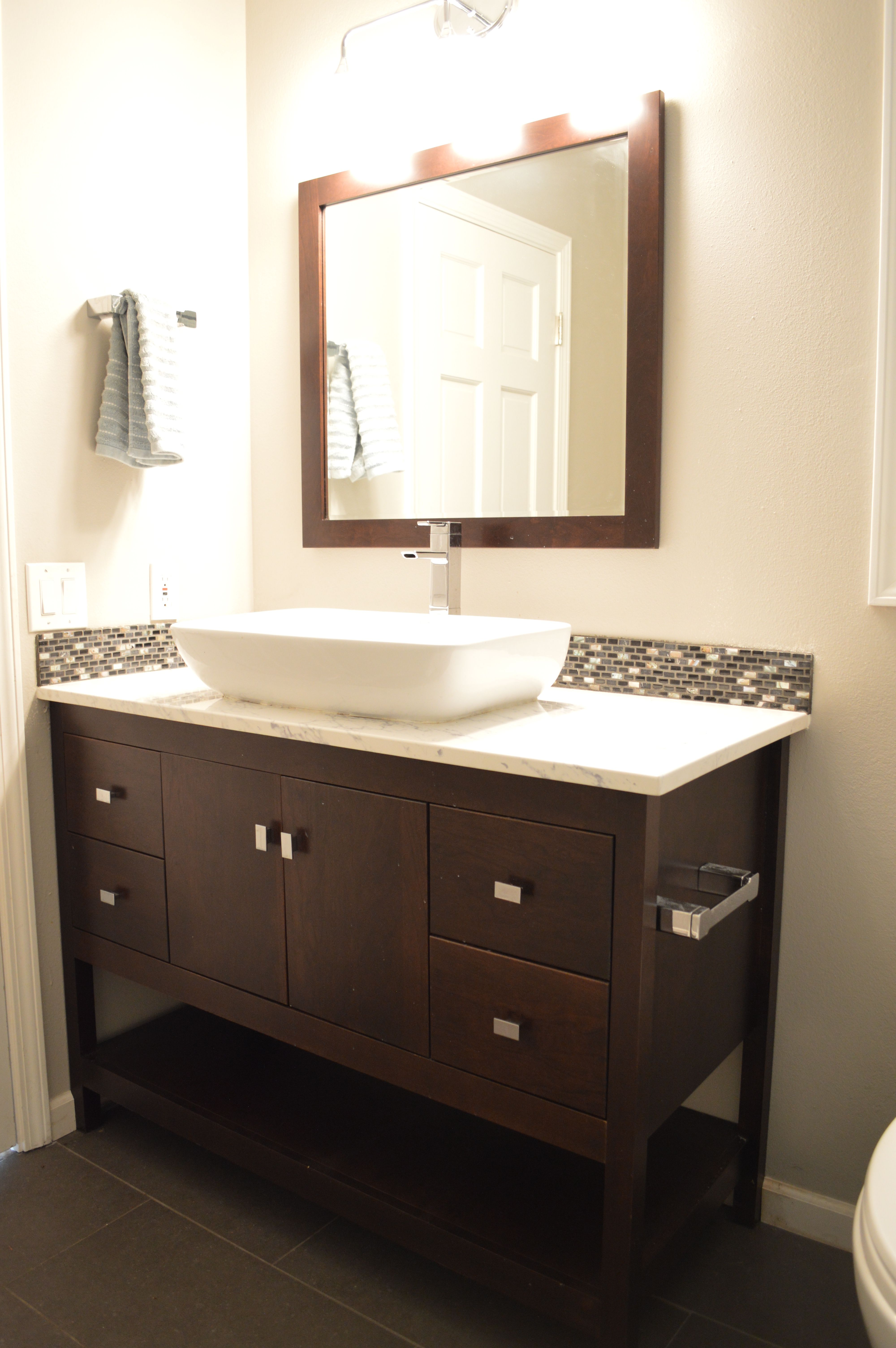 "Contemporary 48"" Alki Spa Collection with matching mirror"