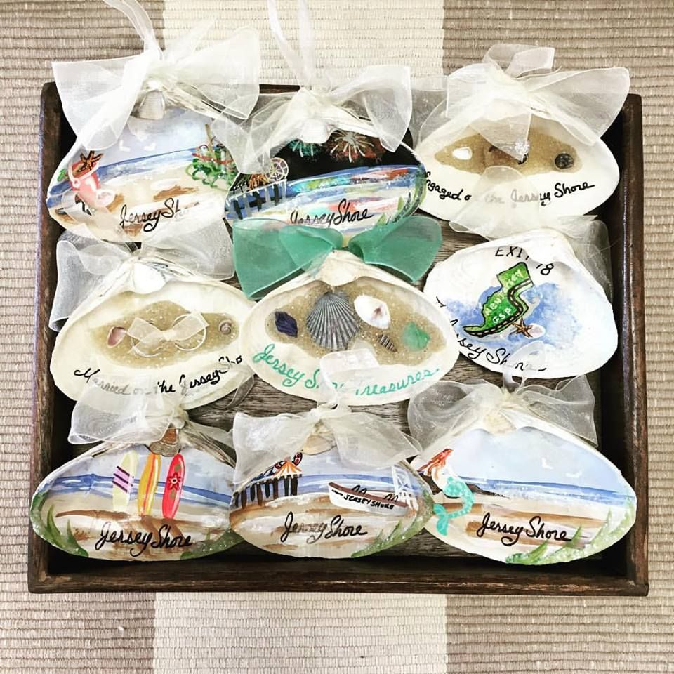 Commemorate your summer spent at the Jersey Shore with an ornament for your Christmas Tree that is hand painted by a local NJ artist!
