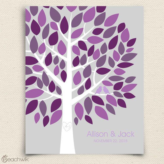Cute Wedding Guest Book Ideas: Wedding Tree Guest Book / Guestbook