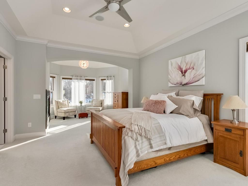 Luxurious master suite, gas fireplace and sitting area, 4 walk-in