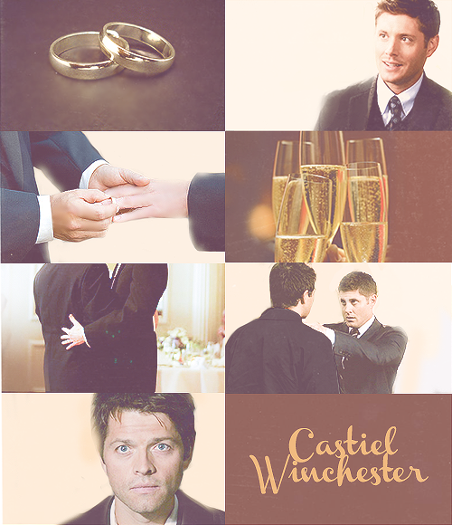 D'awww, Castiel's face in the bottom panel hits me right in the feels <3