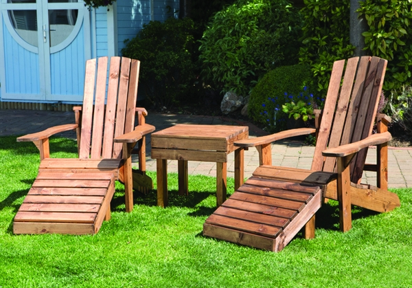 Charles Taylor Aidendack Wooden Garden Chairs And Table Set In 2020 Wooden Garden Chairs Wooden Garden Outdoor