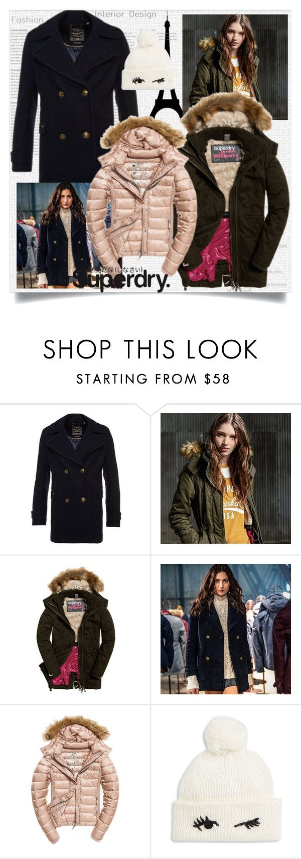 """The Cover Up – Jackets by Superdry: Contest Entry"" by ilona-828 ❤ liked on Polyvore featuring Superdry, Fuji, Kate Spade, polyvoreeditorial and MySuperdry"
