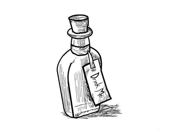 Alice in Wonderland Drink Me Bottle