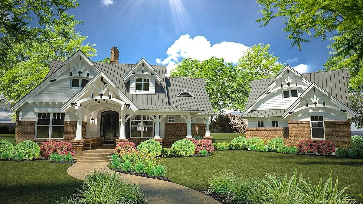 Plan 16812wg Rustic Look With Detached Garage Rustic House Plans Craftsman House Plans Detached Garage