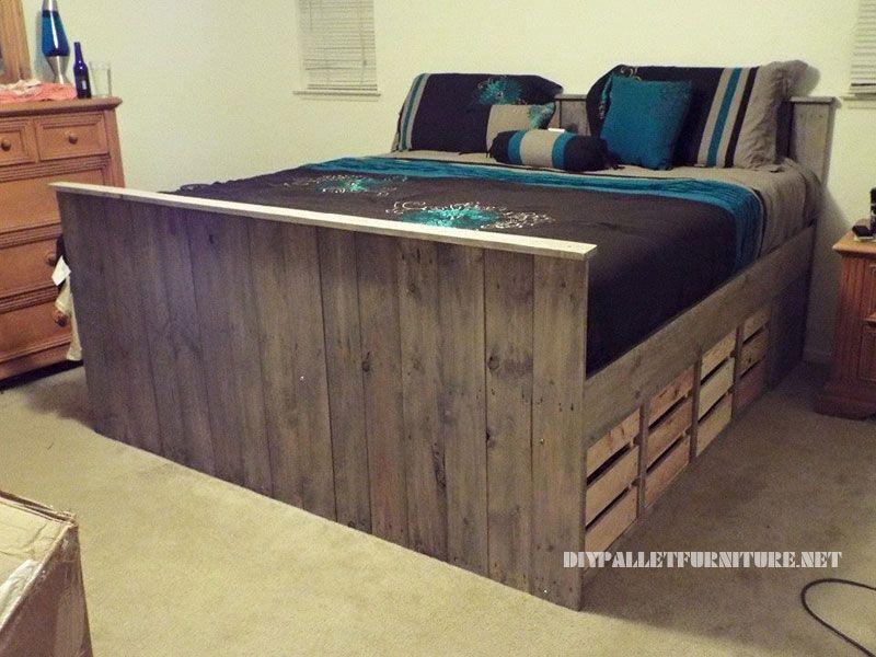 paletten bett mit schubladen 3 unbedingt kaufen m bel palette und m bel aus paletten. Black Bedroom Furniture Sets. Home Design Ideas