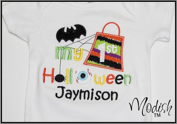 My First Halloween Custom Personalized Appliqued by SoModish.