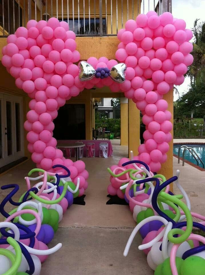 Minnie mouse minnie mickey balloons pinterest for Balloon decoration minnie mouse