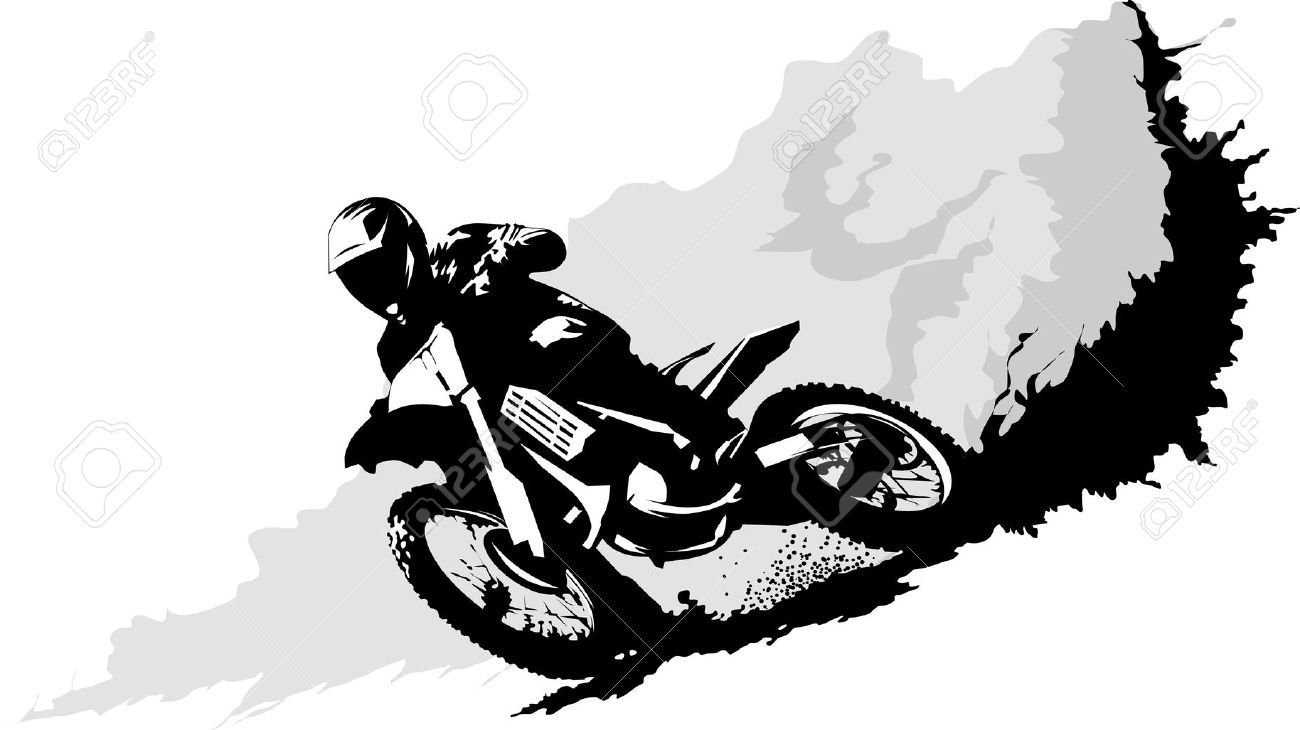 motocross stock vector illustration and royalty free