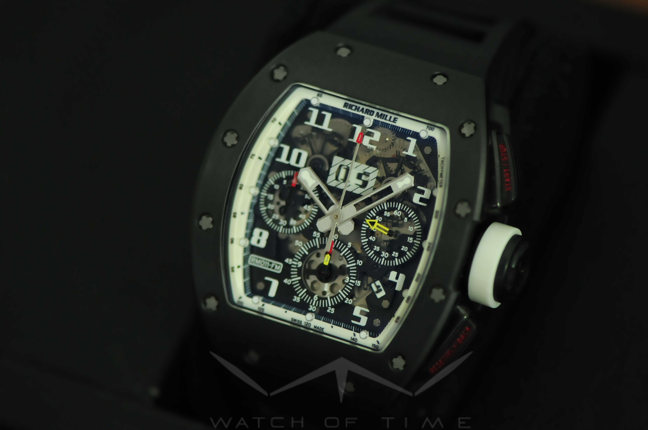 switching it up with a Richard Mille timepiece