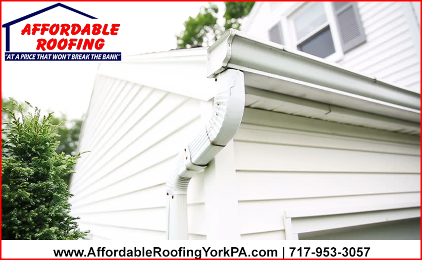 Clogged Gutters Water Back Ups Leaks Even With A Lifetime Roof Keep Your Landscaping Trimmed Up And Clean Tho Affordable Roofing Roofing Cleaning Gutters