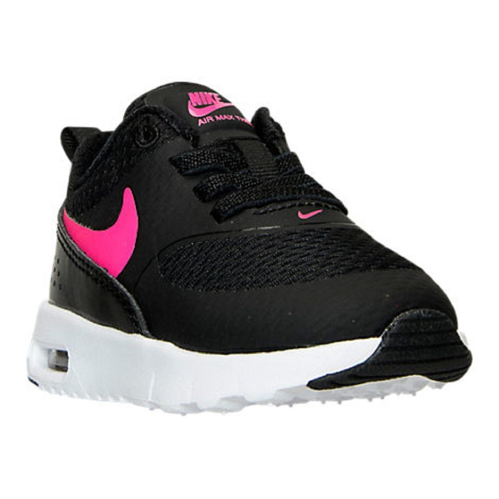 Baby Girls Toddler NIKE AIR MAX THEA Running Shoes Size 7 Black/Pink NWB #