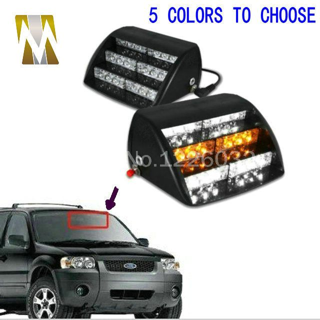 Strobe Lights For Cars Delectable 18 Led Emergency Vehicle Strobe Lights Windshields Dashboard Flash Inspiration Design