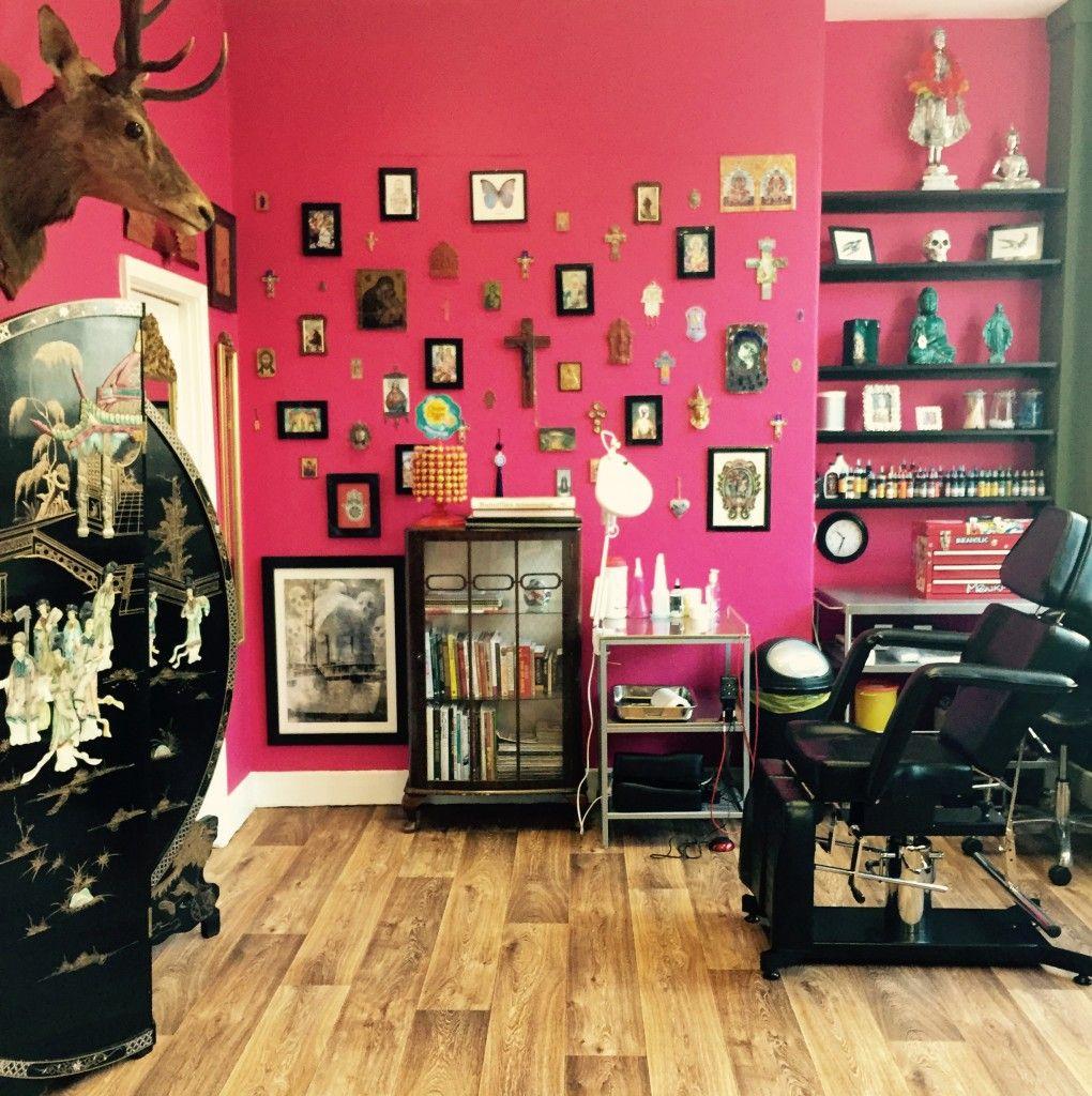 Songbird interior 1 … Tattoo studio interior, Tattoo