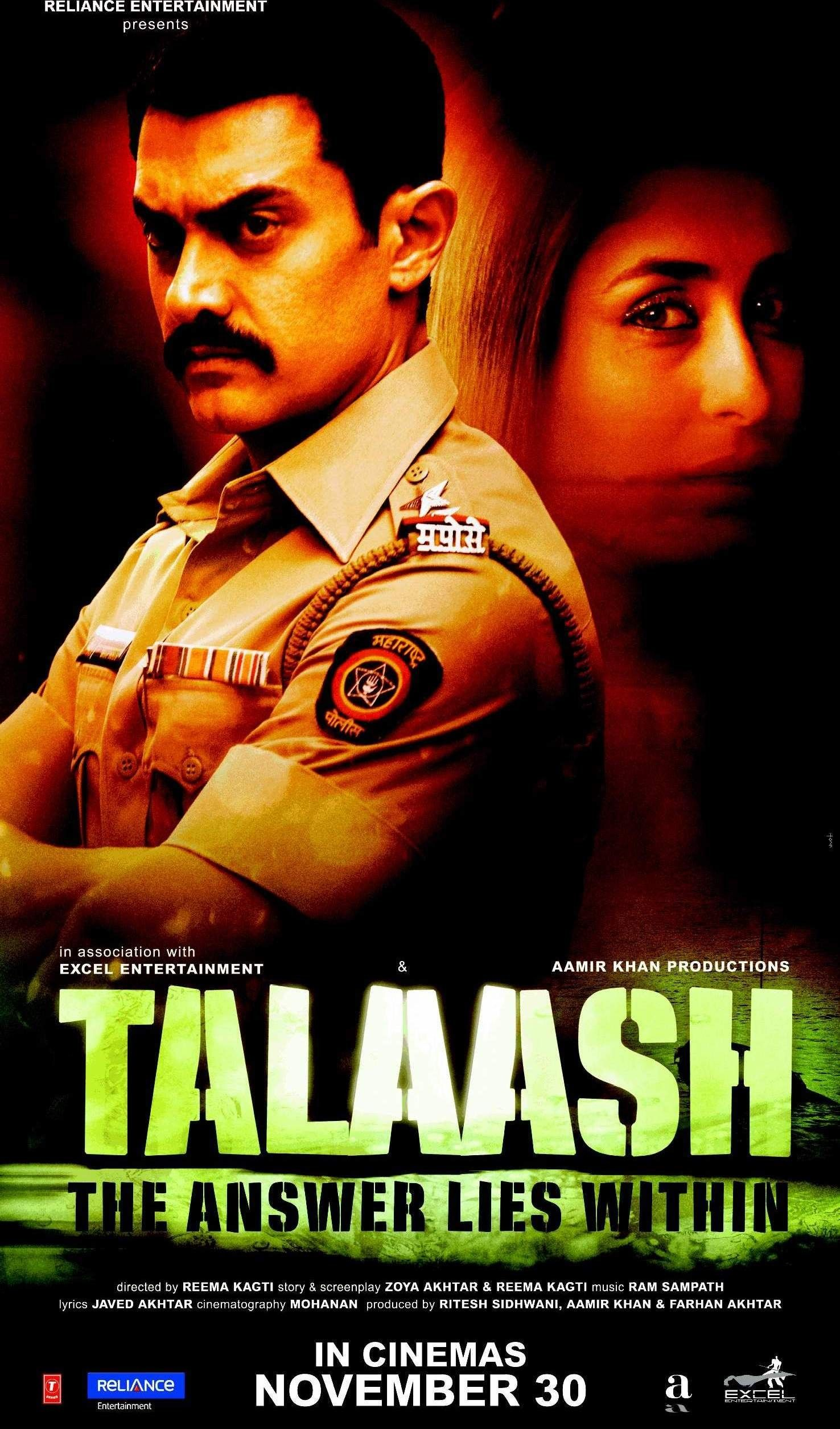 Talaash' poster feat. Aamir Khan and Kareena Kapoor (With images) | Aamir  khan, Bollywood posters, New movie posters