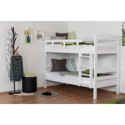 Photo of Etagenbett für Erwachsene Easy Premium Line K10/n, Kopfteil mit Löchern, Buche Vollholz massiv Weiß