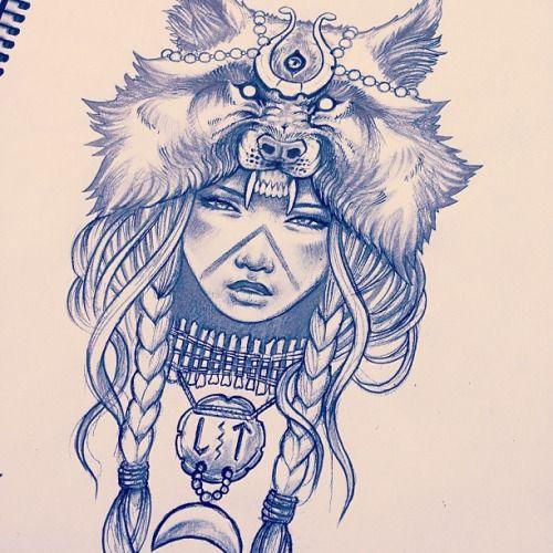Gimiksborn Tumblr Wolf Girl Tattoos Headdress Tattoo Wolf Tattoos