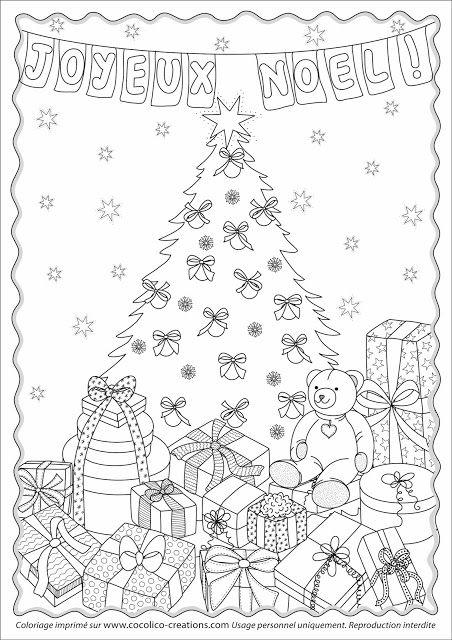 cocolico creations: Mercredi Coloriage # 22, Joyeux Noël
