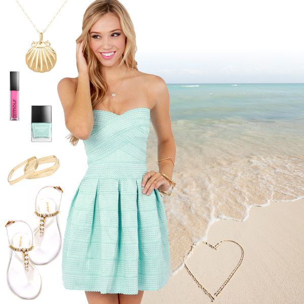 Cute Pastel Summer Dresses  style collages  Pinterest  Fashion ...