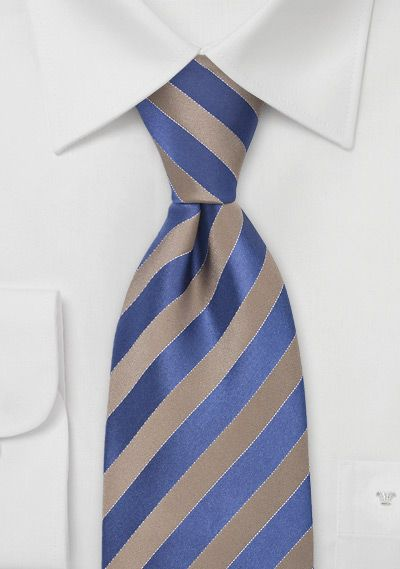 4fb6c51f3af3 Bronze and Royal Blue Striped Tie | Harry Potter nerdism | Mens silk ...