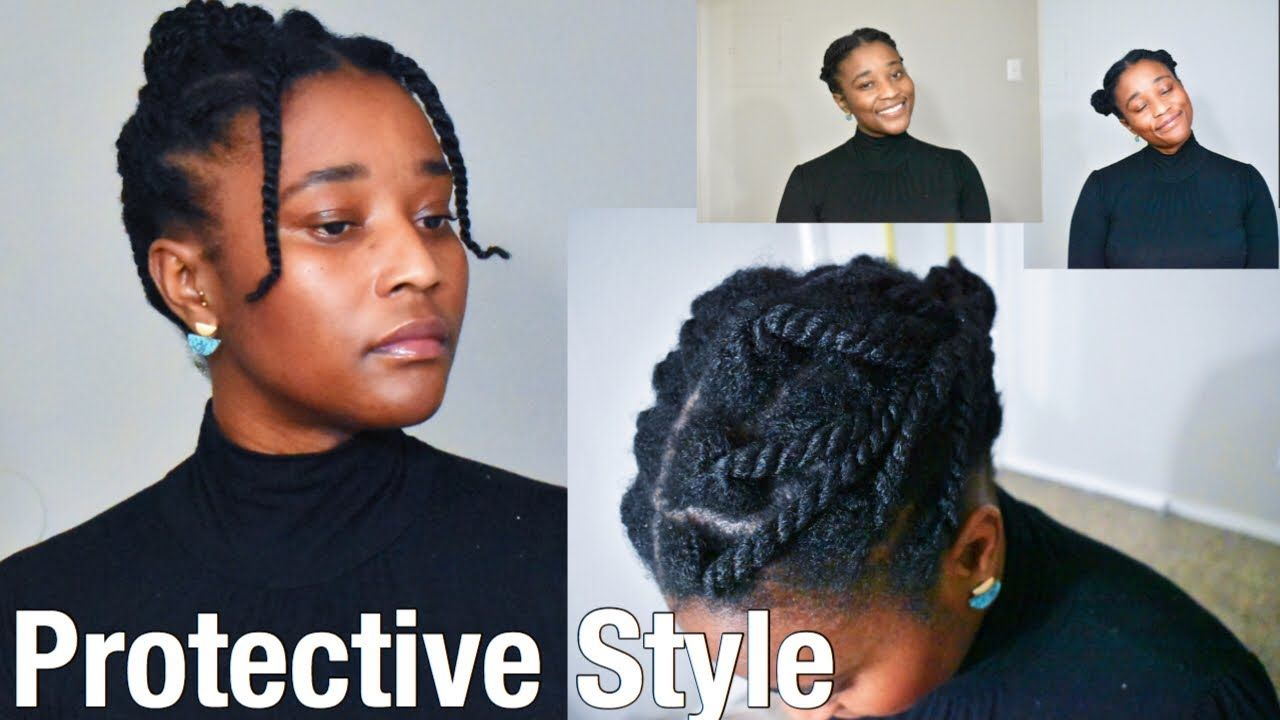 3 Quick And Easy Protective Styles On Thin Fine Natural Hair Naturalhair In 2020 Fine Natural Hair Braids For Thin Hair Protective Hairstyles For Natural Hair