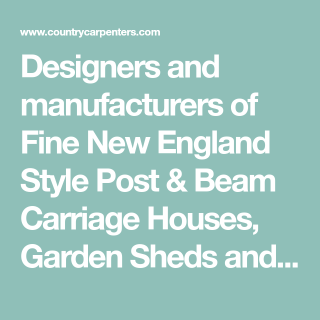 Designers And Manufacturers Of Fine New England Style Post