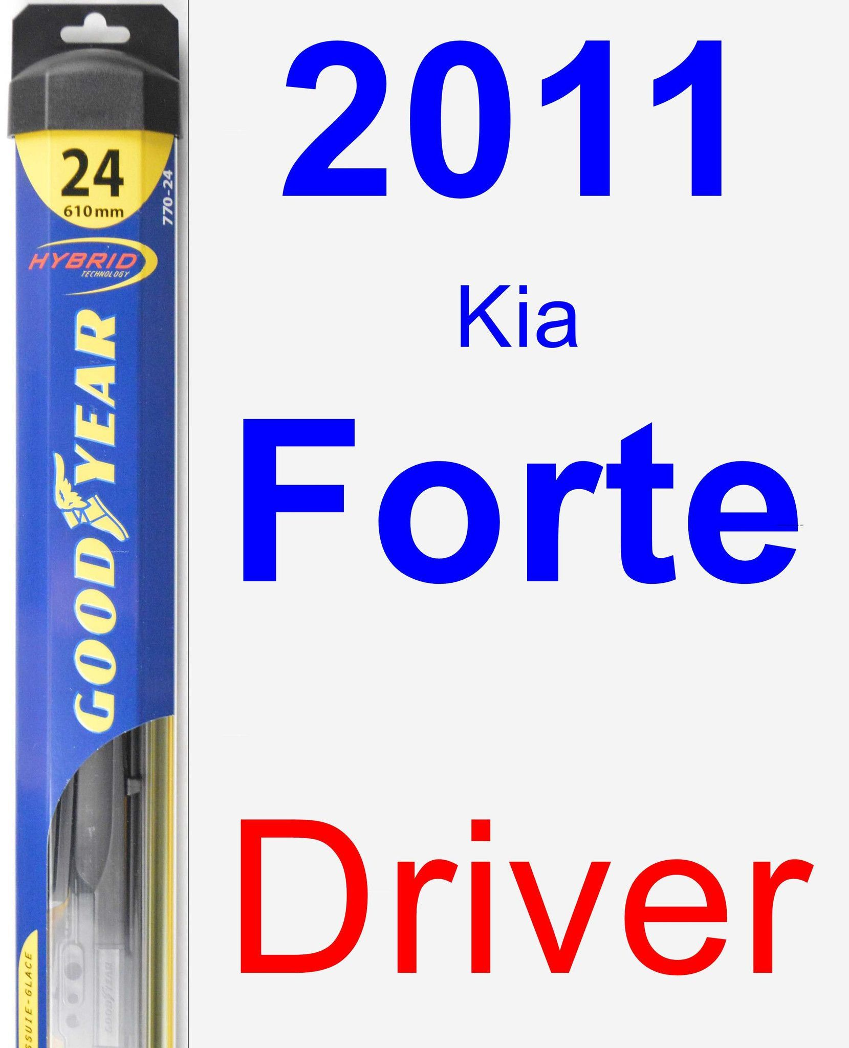 Driver Wiper Blade for 2011 Kia Forte - Hybrid